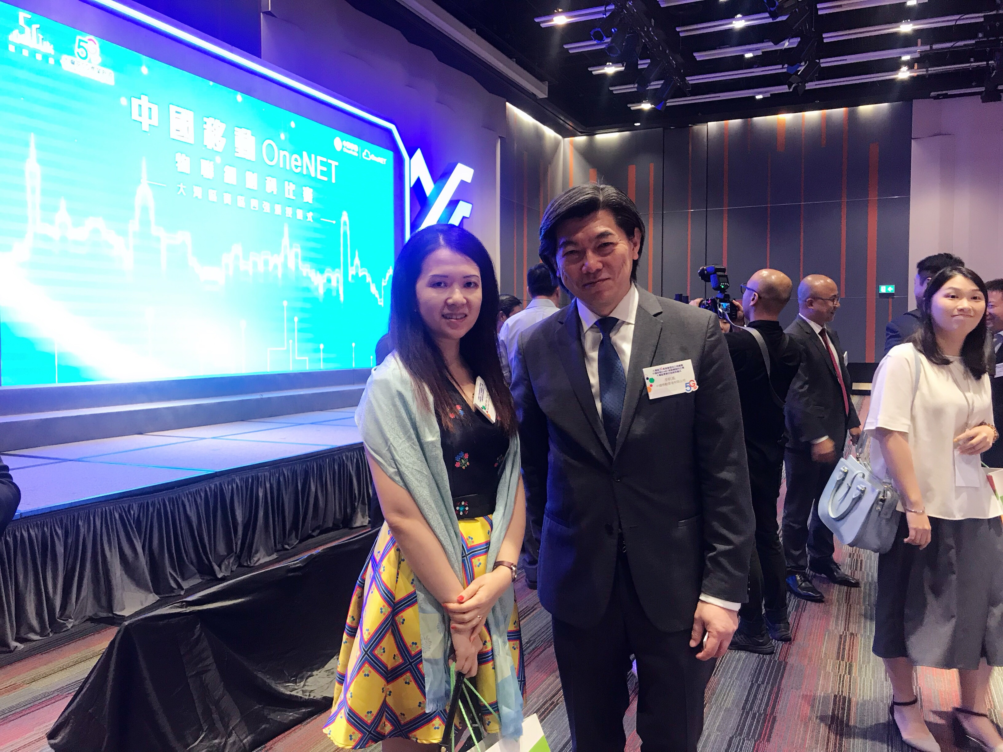 Dr. Collin Wong communicate with Mr. Sean Lee, Founding Chairman of The GBA 5G Industry Alliance and Director & CEO of China Mobile Hong Kong, in the ceremony