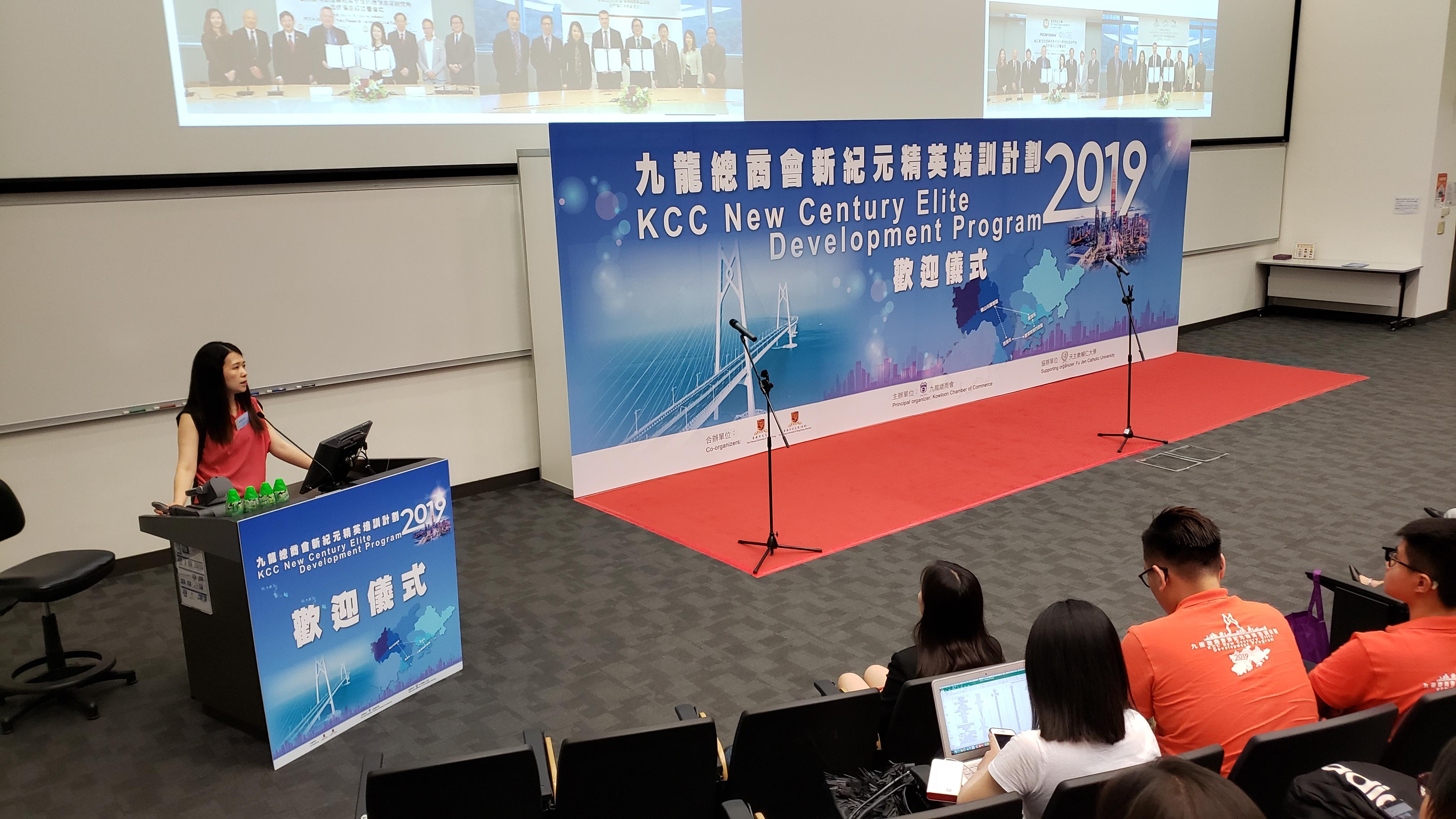 Dr. Collin Wong is giving a speech