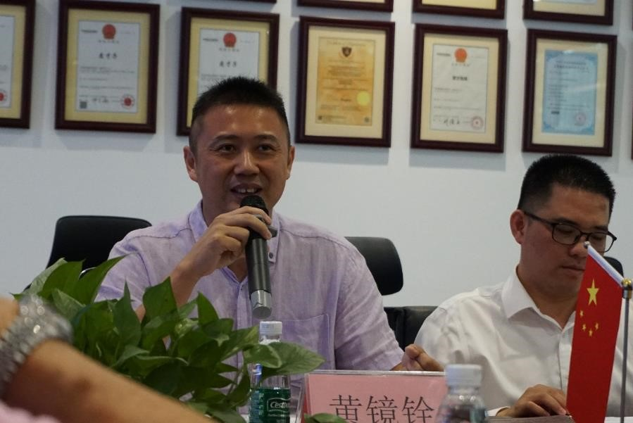 東莞人力資源和社會保障局松山湖分局局長黃鏡銓先生致辭